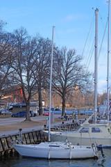 Stockholm, Sweden - March, 16, 2016: sailboat in Stockholm harbour, Sweden
