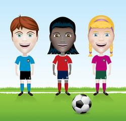 Soccer Team Youth Illustration