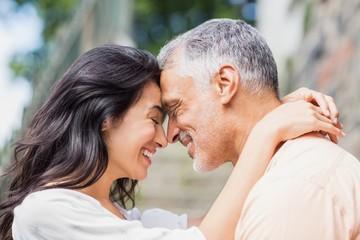 Close-up of couple embracing