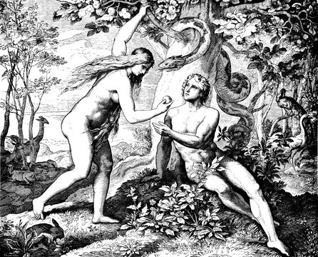 Adam & Eve Eat Forbidden Fruit 1) Sacred-biblical history of the old and New Testament. two Hundred and forty images Ed. 3. St. Petersburg, 2) 1873. 3) Russia 4) Julius Schnorr von Carolsfeld