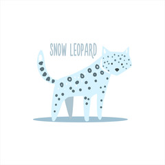 Snow Leopard Vector Illustration
