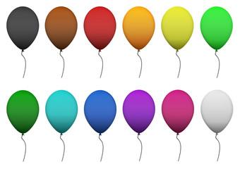 Luftballons alle Farben