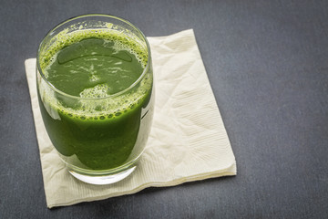 glass of fresh green juice