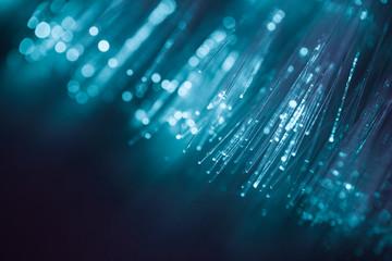 blue light fiber optic, high speed technology of digital telecommunication.