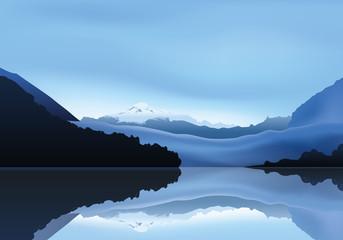 Paysage Montagne - Lac