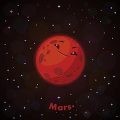 Cute planet Mars
