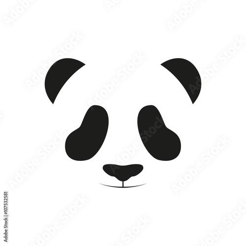 Baby panda face logo template. Baby panda face icon. Baby panda. Asian ...