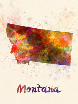 Missouri US state in watercolor