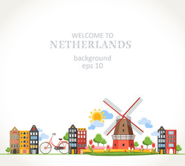 travel Netherlands panorama background