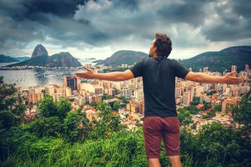 man in Rio De Janeiro