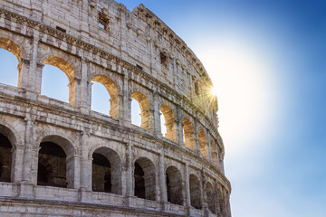 Roman Colosseum, especially in backlight