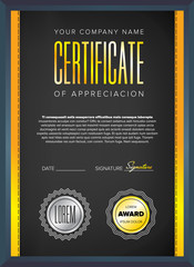 Black certificate design