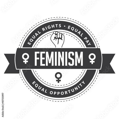 Feminism Symbol Circular Badge Feminist Icon Logo Inspiration