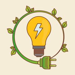 eco plug design , vector illustration