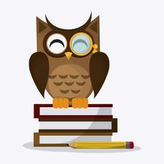 Owl icon design, vector illustration