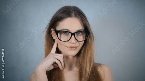 man wearing glasses is penetrating sweet brunette wildly  273246