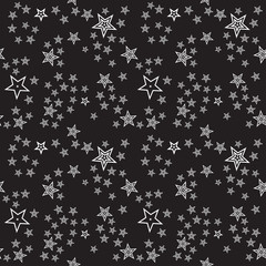 Seamless stars pattern background, editable color background.