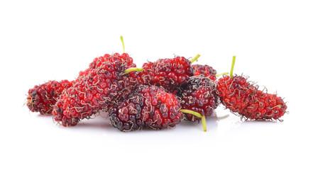 mulberry on white background