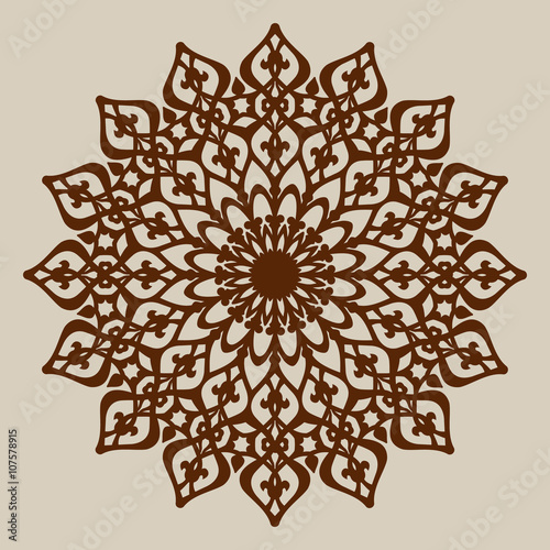 The template mandala pattern for decorative rosette. A picture ...