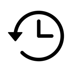 Account history line art icon for apps and websites