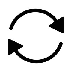 Sync and refresh or database sync arrow line art icon