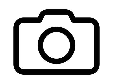 Photography camera line art icon for apps and websites