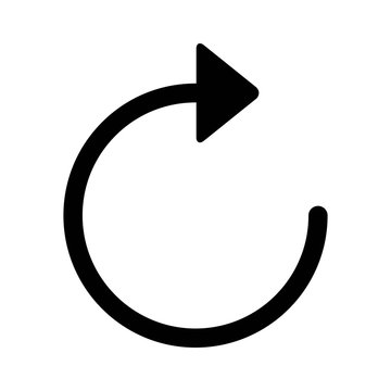 Sync refresh or webpage reload arrow line art icon for apps and websites