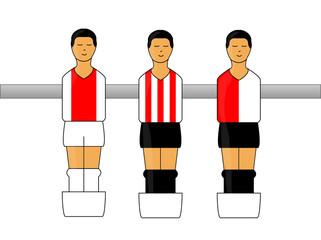 Table Football Figures with Dutch League Uniforms 1