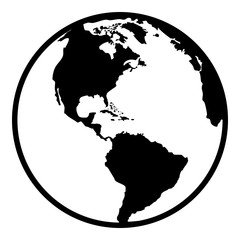 Earth planet globe web and mobile icon