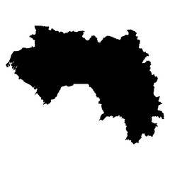 Guinea black map on white background vector