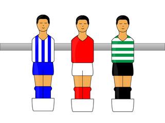 Table Football Figures with Portuguese League Uniforms 1