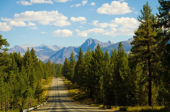 mountain road view