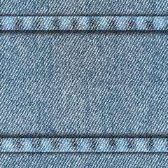 Textured striped blue jeans denim linen fabric background. Vector Illustration. EPS 10.