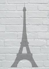 Street art, la tour Eiffel