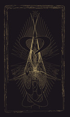 Tarot cards - back design. Generational planet: Uranus, Neptune,