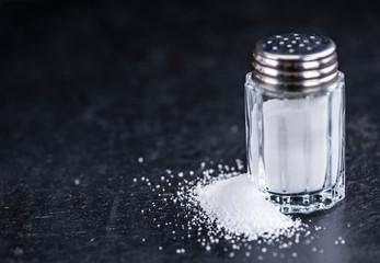Salt Shaker on a slate slab