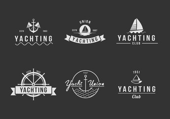 Black and white logo set
