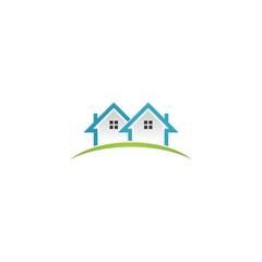 home building nature 3d logo