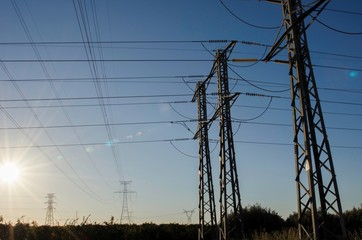 power electricity pylons