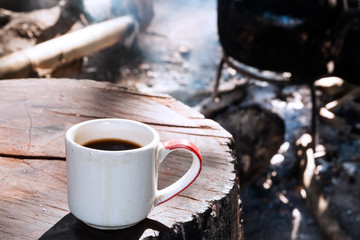 Old style black coffee