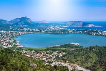 Aerial View of Regiao Oceanica in Niteroi, Rio de Janeiro, Brazi