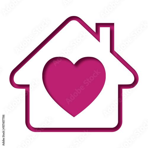 logo maison et c ur im genes de archivo y vectores libres de derechos en imagen. Black Bedroom Furniture Sets. Home Design Ideas