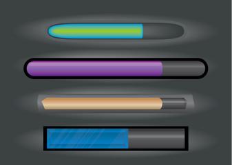 Set of download bar in EPS 8 format.