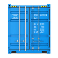 Cargo container texture, front view