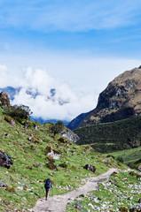 trekking in mountains, Salkantay Trekking, Peru, South America