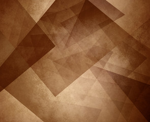 abstract brown sepia background, elegant triangle pattern design element on light brown or tan background with vintage texture