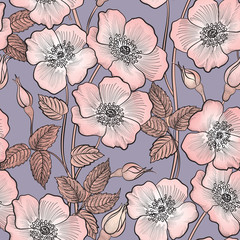 Floral seamless pattern. Flower background. Floral seamless texture