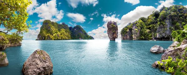 Paisaje pintoresco.Oceano y montañas.Viajes y aventuras alrededor del mundo.Islas de...