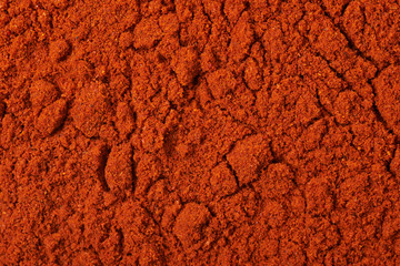 Surface covered with paprika powder