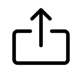 Share file or export arrow line art icon for ios apps and websites websites